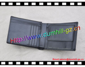 Real Split Leather Men Wallet with Customized Logo pictures & photos