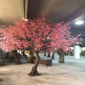 Hotel Decorative Silk Artificial Faux Peach Plum Blossom Tree pictures & photos