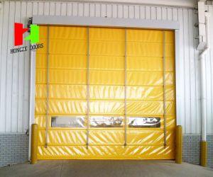 Industrial Workshop High Speed Roller Shutter Automatic Steel Wooden Door (Hz-FC035) pictures & photos