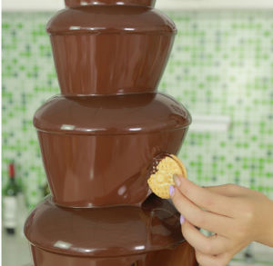 Catering Equipment 4tiers Commercial Chocolate Fountain Machine in Banquet pictures & photos