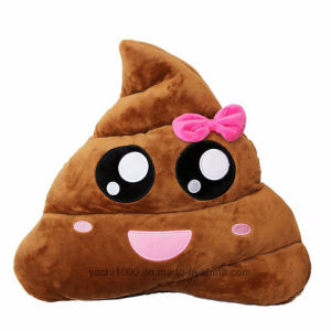 Plush Stuffed Toy Emoji Poop Pillow pictures & photos