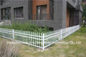Haohan Customized High-Quality Residential Garden White Galvanized Steel Fence 74 pictures & photos