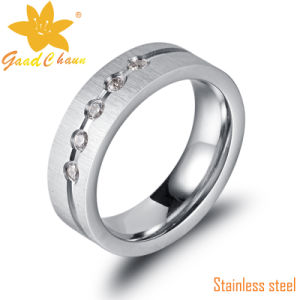 Exaset01-1 316L CNC Stones Stainless Steel Ring Price