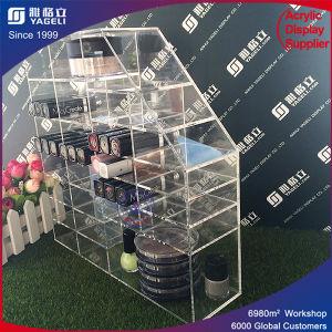 Colored Customized Rotating Acrylic Nail Polish Rack Display Acrylic Lipstick Holder pictures & photos