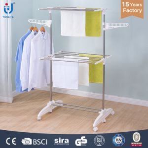 Hotel Adjustable Shoe Shelf Clothing Hanger Rack Clothing Dry Rack pictures & photos
