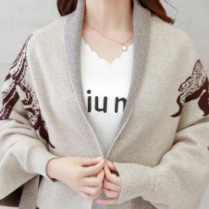 Women Fashion Viscose Nylon Knitted Fringe Winter Cardigan (YKY2068) pictures & photos