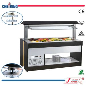 4 Pans Buffet Refrigerated Displayer for Hotel Made in Guangzhou (M-P1600FL4) pictures & photos