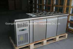 Under Counter 3 Glass Door Bench Work Chiller- (GN3100TNG) pictures & photos