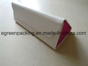 Popular White PU Covered Folding Triangle Optical Case (KS1) pictures & photos