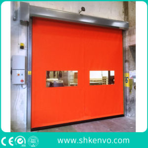 PVC Fabric Self Repairing Fast Acting Roller Shutter Door for Industrial Warehouse pictures & photos
