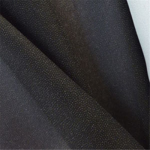 Hot Selling 50% Polyester 50%Viscose Water Jet Loom Plain Woven Fusible Interlining pictures & photos