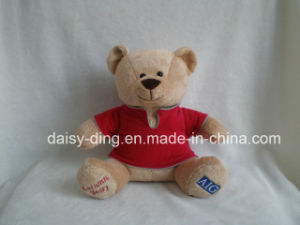 Embroidery Logo T-Shirt Plush Bear pictures & photos