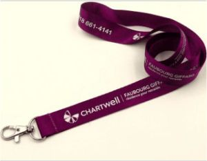 Custom Nylon Lanyards with Metal Hook (LY-040) pictures & photos