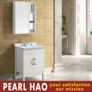 Moderrn Melamine MFC White Bathroom Cabinets Mirror pictures & photos