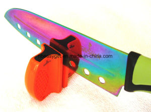 Portable Knife Sharpener. Tungsten and Ceramic Blades for Complete and Accurate Sharpening Esg10143 pictures & photos