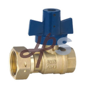 Angle Type Lockable Brass Water Meter Ball Valve with Union pictures & photos