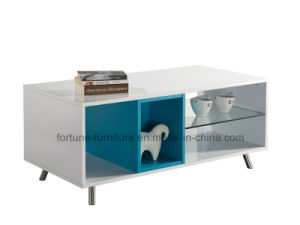 Modern Wooden UV High Gloss Coffee Table with Stainless Feet (Sea 503) pictures & photos