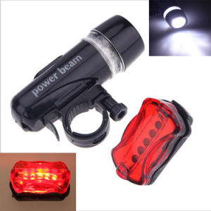 5 LED Bike Front Light Rear Taillight Bicycle Light Set pictures & photos