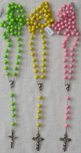Candy Acrylic Rosary Necklace (K41-43)