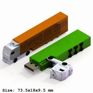Flash Drive with Truck Shape Up to 16GB Capacity (UF205)