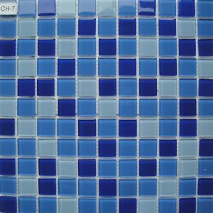 Light Blue Crystal Glass Mosaic Tiles for Children Swimming Pool pictures & photos