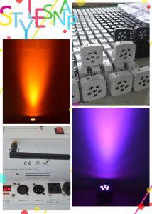 6PCS 15W Rgwba 5in1 Wireless Powered Battery LED PAR Light for Wedding Uplights