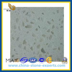 White Artificial Quartz Stone for Kitchen Countertop (YQZ-QS1008) pictures & photos
