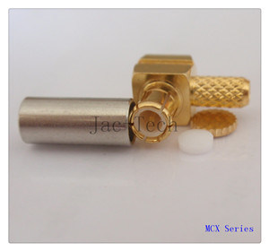 MCX Male Plug Right Angle Crimp for Rg316 Cable