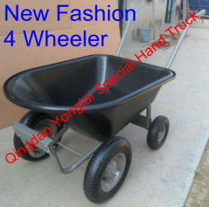 4 Wheeler Poly Tray Wheelbarrow