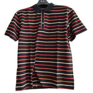 Men′s Double Mercerized Cotton T-Shirt (11CH-0282)