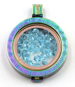 New Arrival Rainbow Memory Floating Locket with Birthstone Coin Plate pictures & photos