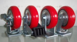 Heavy Duty PU on Cast Iron Casters pictures & photos