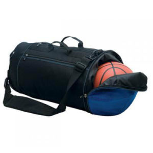 Sport Shoulder Travel Bag with Basketball Pocket (MS2095) pictures & photos