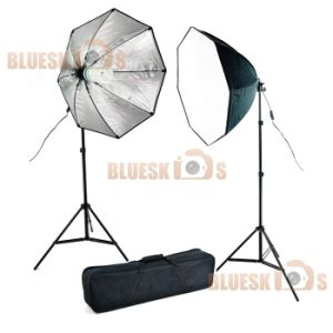 Studio Octagon Softbox Fluorescent Light Kit