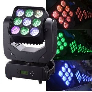 9PCS *10W RGBW 4in1 Matrix Wash LED Moving Head Light pictures & photos