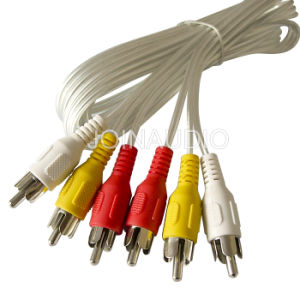 Audio Cable RCA Cable 3RCA to 3RCA Cable (3R-3R AL-WH) pictures & photos