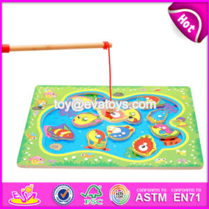 New Design Pretend Play Wooden Fishing Games for Kids W01A189 pictures & photos