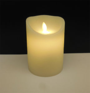 Flameless Christmas Candle with Moving Wick