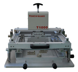 SMT Manual Solder Paste Stencil Printer T1000 pictures & photos