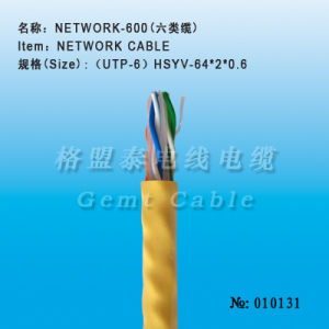 Hsyv UTP CAT6 Network Cable pictures & photos