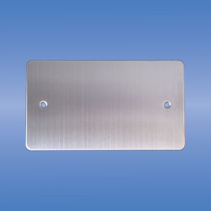 Double Blank Plate, Flat Brushed Chrome pictures & photos