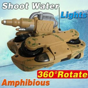 4Wheel Drive 3-channel R/C Amphibious Water Spraying Transform Tank (YD13772A)