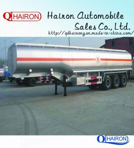 Fuel Tanker Semi Trailer 3 Axles 50ton Capacity