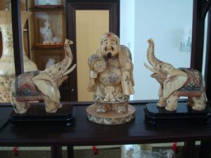 Antique Ivory Sculpture -9