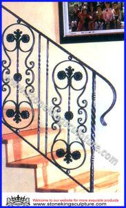 Wrought Iron Staircase, Iron Handrail/ Railing (SK-5261) pictures & photos