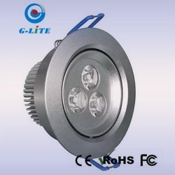 3*1W LED Ceiling Down Light, 210-270lm, 15, 30, 60 Degree (GL-DL003N-00A)