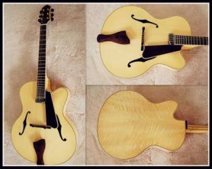 "Natural 17"" Jazz Guiar Stock (YZ-15N01)"