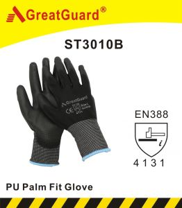 Polyurethane (PU) Palm Fit Glove (ST3010G) pictures & photos