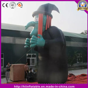 Hot Standing Model Inflatable Witch for Halloween Decoration