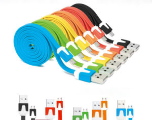 1 M Micro USB Flat Noodle Charging & Data Sync Cable
